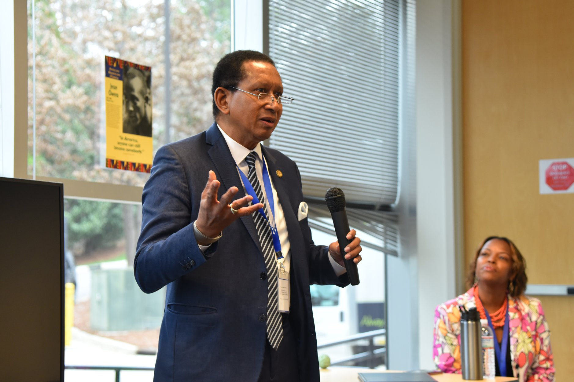 Senator McKissick gives a presentation at a Black History Month Event in 2018. www.mckissickfornc.org